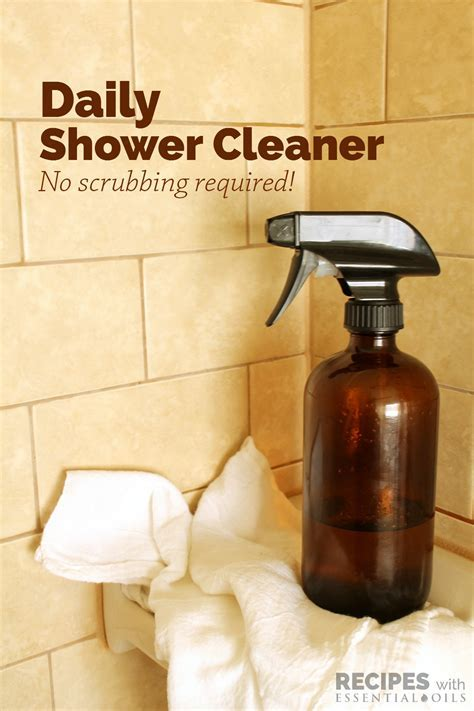 Daily Shower Cleaner   Recipes with Essential Oils
