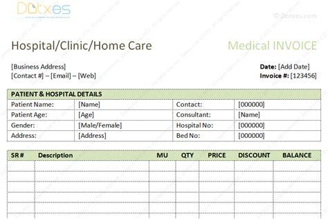 Medical Bills Format Word Dotxes Hospital Bill Template