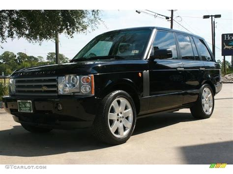 java black pearl 2005 land rover range rover hse exterior