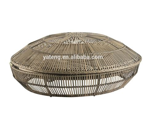 wicker day bed all weather patio daybed outdoor resin wicker round daybed