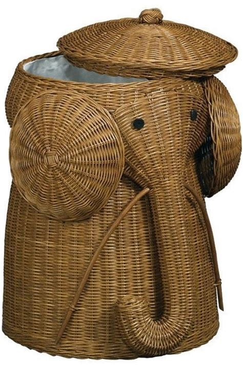 Panier A Linge 198 by Rattan Elephant Her Laundry Hers Bath