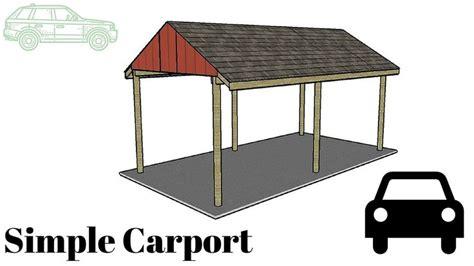 Simple Carport Plans 48 best images about wooden carport plans on