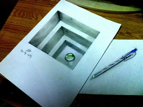 How To Make 3d Sketch On Paper - minion 3d drawing by boynguyenart on deviantart pinteres