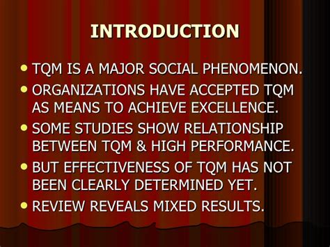 Mba In Tqm From Symbiosis by Impact Of Organizational Culture On Tqm Programs