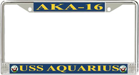 aka license plate frame uss aquarius aka 16 license plate frame