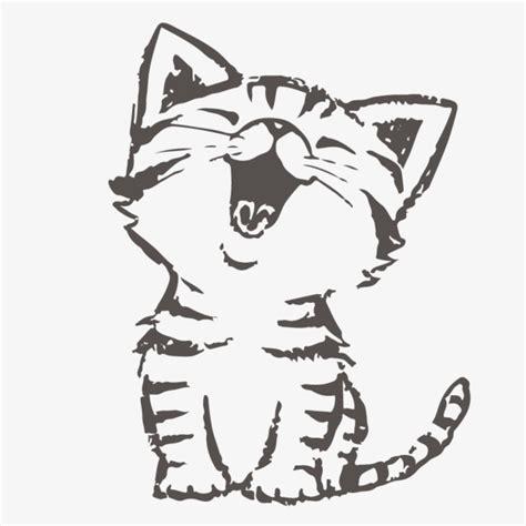 imagenes de kitty blanco y negro lindo gato de dibujos animados pintados a mano blanco y