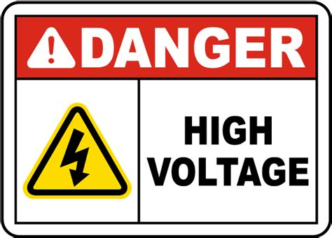 high voltage safety danger high voltage sign e3368 by safetysign