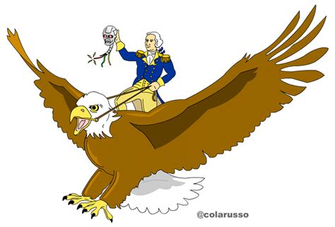 New Shirt Dinosaurus Gw 201 Q george washington atop a bald eagle