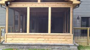 archadeck s custom designed screen porch with decks and