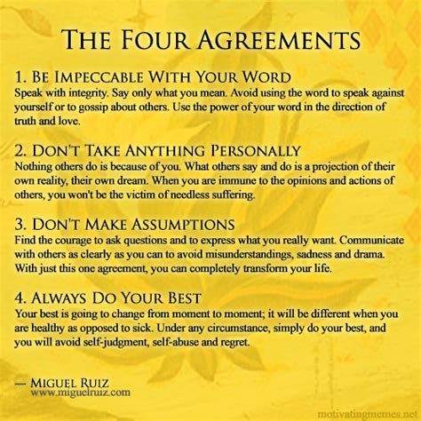 The 4 Agreements Book Quotes
