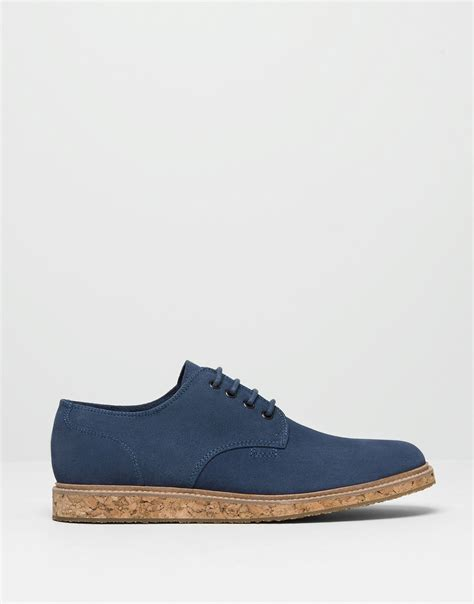 sole shoes pull cork sole shoes in blue for navy lyst