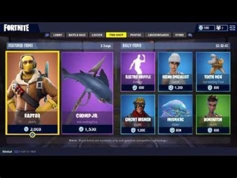 fortnite daily skins dances pickaxes gliders