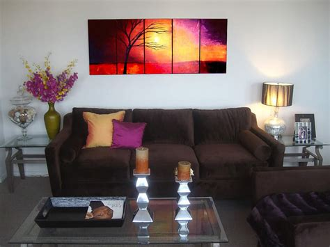 paintings for living rooms landscape abstract paintings contemporary living room miami by osnat