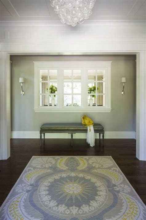 yellow foyer yellow and gray foyer transitional entrance foyer