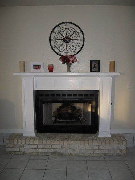diy fireplace mantel and surround the apartment