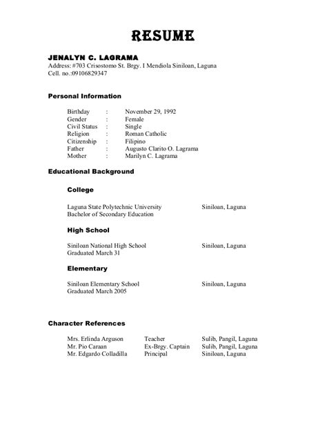 Character Reference Exles New Zealand Character Reference In Resume Format Resume Format