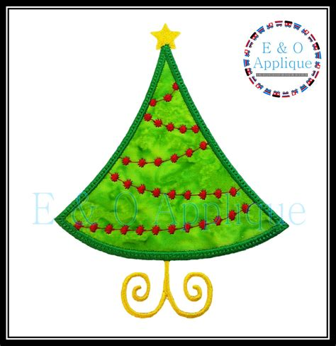 christmas tree applique design christmas embroidery design