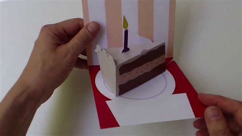 3d Pop Up Birthday Cake Card Template by Assemble Yourself Birthday Cake Slice 0023