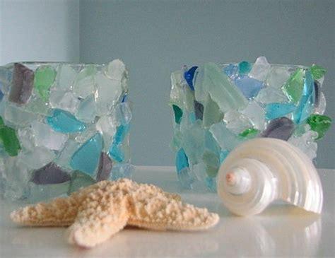Glass And Sea Cookie Votive Decor Sea Glass Votive Glass Candle Holder