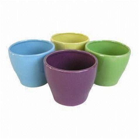 Ceramic Flower Pots China Ceramic Flower Pots Dolomite W Painted Or Stoneware