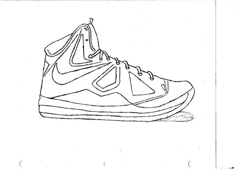 basketball shoes coloring pages getcoloringpages for