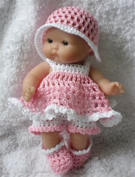 pattern doll clothes 10 inch crochet pattern for berenguer 5 inch baby doll dress