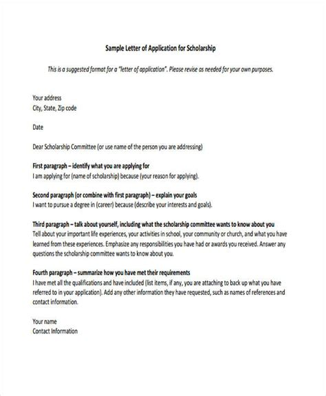 exle of formal letter for bursary application 46 application letter exles sles pdf doc