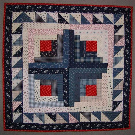 Log Cabin Patchwork History - version log cabin doll quilt