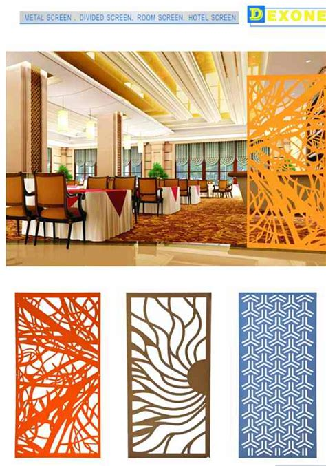 Ceiling Design Software cnc metal laser cut panels hotel metal partition wall