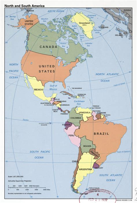 america map political large detailed political map of and south america