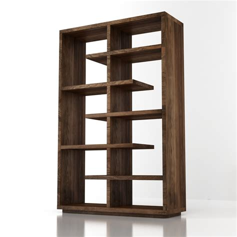 crate and barrel bookcase 3d crate and barell elevate walnut 68 bookcase high