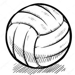 volleyball sketch stock vector 169 lhfgraphics 13988245