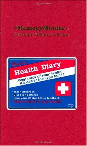 my personal health records journal books memoryminder personal health journal a wellness diary
