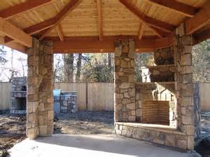 outdoor fireplace and outdoor kitchen corner fireplace covered patio brownbrosmasonry net