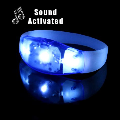 Sound Activated Blue Light Led Bracelet Gflai Led Sound Activated Lights
