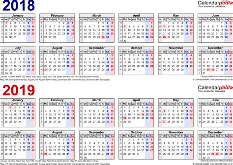 year calendars    uk  excel