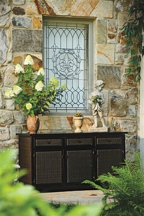 resin wicker outdoor buffet  storage traditional