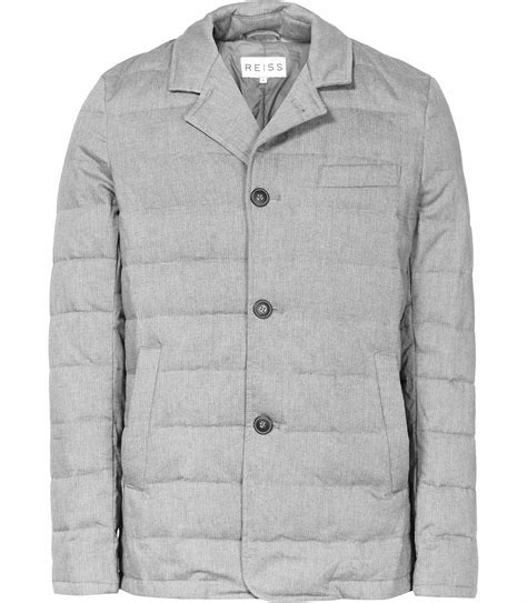 vialli grey quilted jacket reiss
