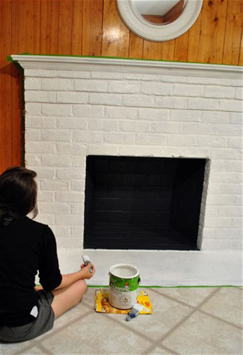 how to prep prime and paint a brick fireplace