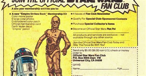 official star wars fan club starlogged geek media again 1981 the official star
