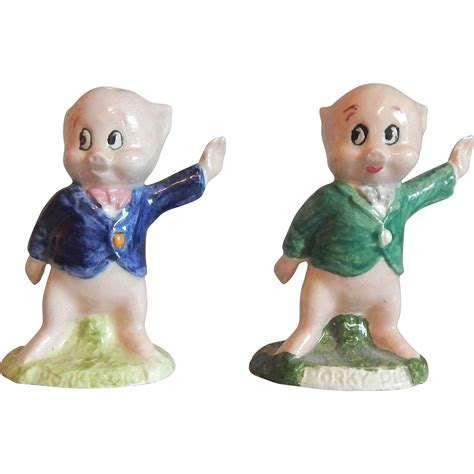 Glass Pig Salt And Pepper Shakers It Or It by Warner Bros Porky Pig Salt And Pepper Shakers From