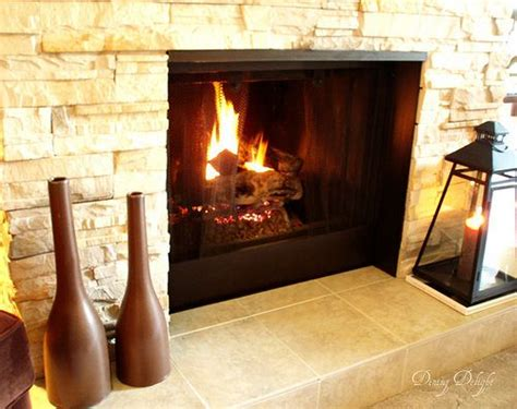fireplace makeover covering brick with facade