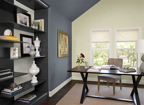 office paint colors home office color schemes with dark desk on beige rug