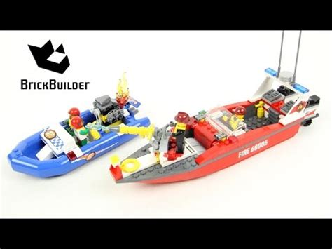 lego city fishing boat speed build lego city 60005 fire boat lego speed build youtube