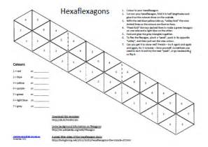 hexaflexagon template printable hexaflexagon kunst og h 229 ndverk ideer note