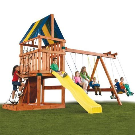 swing set kit with slide swing n slide alpine custome ready to build swing set kit