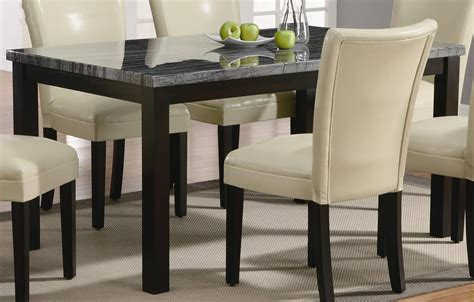 coaster 102261 rectangular marble dining table