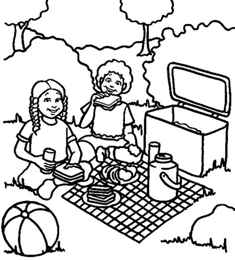 chicken sandwich coloring page family picnic netart part 2