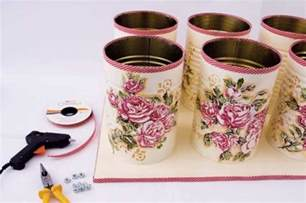 Decoupage Tips - decoupage metal tin cans craft tutorial