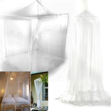 Mosquito Netting Curtains Mosquito Net Fly Insect Midges Protection King Bed Canopy Netting Curtain Uk